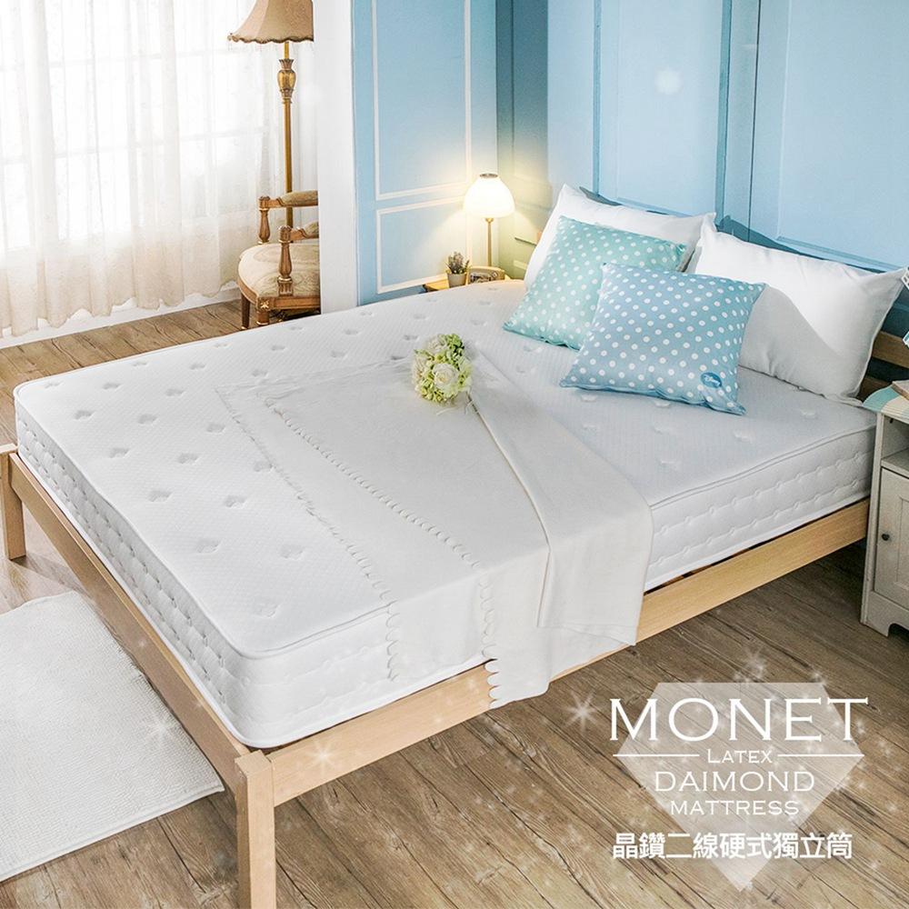 OBIS晶鑽系列-Monet單人3.5X6.2二線蜂巢獨立筒無毒床墊